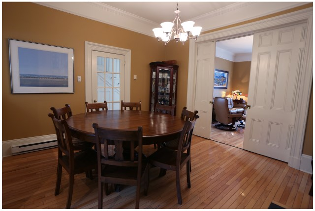 Dining Room And Pocket Doors Towards Living