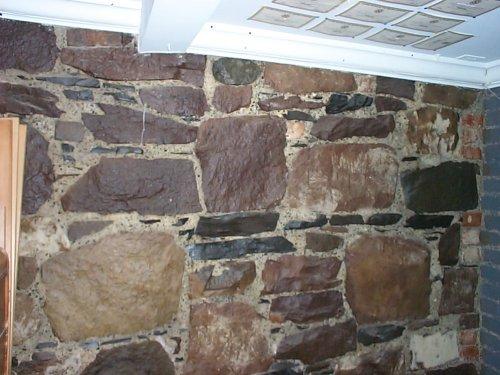 rock foundation wall in basement